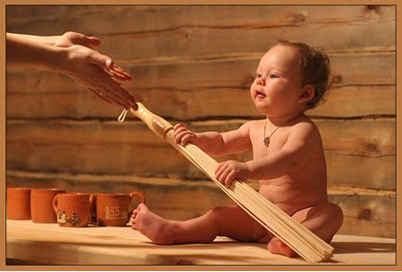Можно ли брать ребенка в сауну?