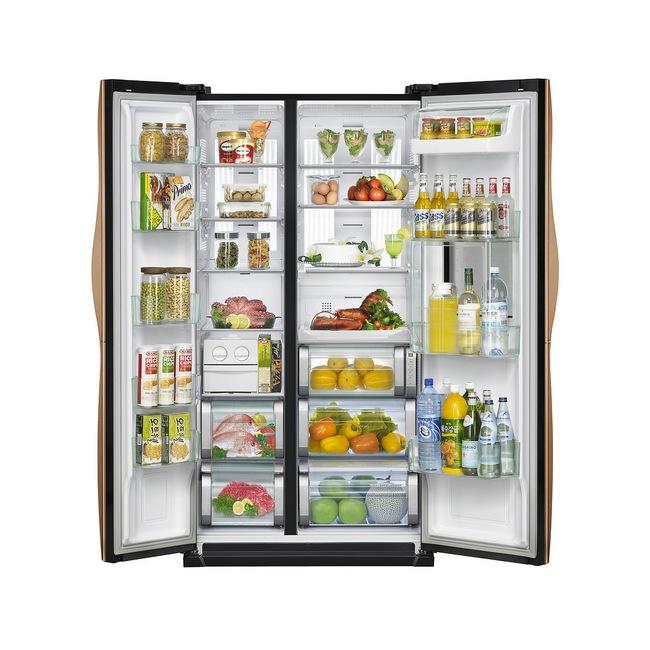 холодильник о открытыми дверями