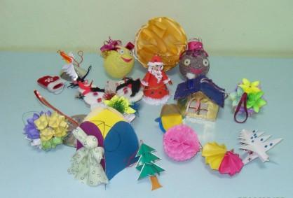 Ёлочные игрушки, сделанные своими руками