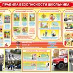 Стенд «Правила безопасности школьников»
