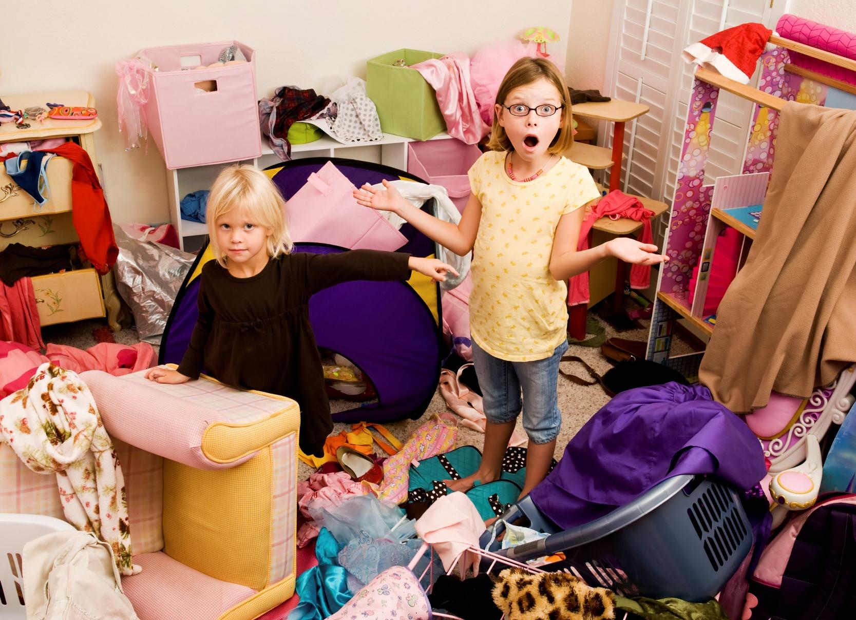 Дети и бардак в комнате