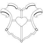 Шаблон с сердечком