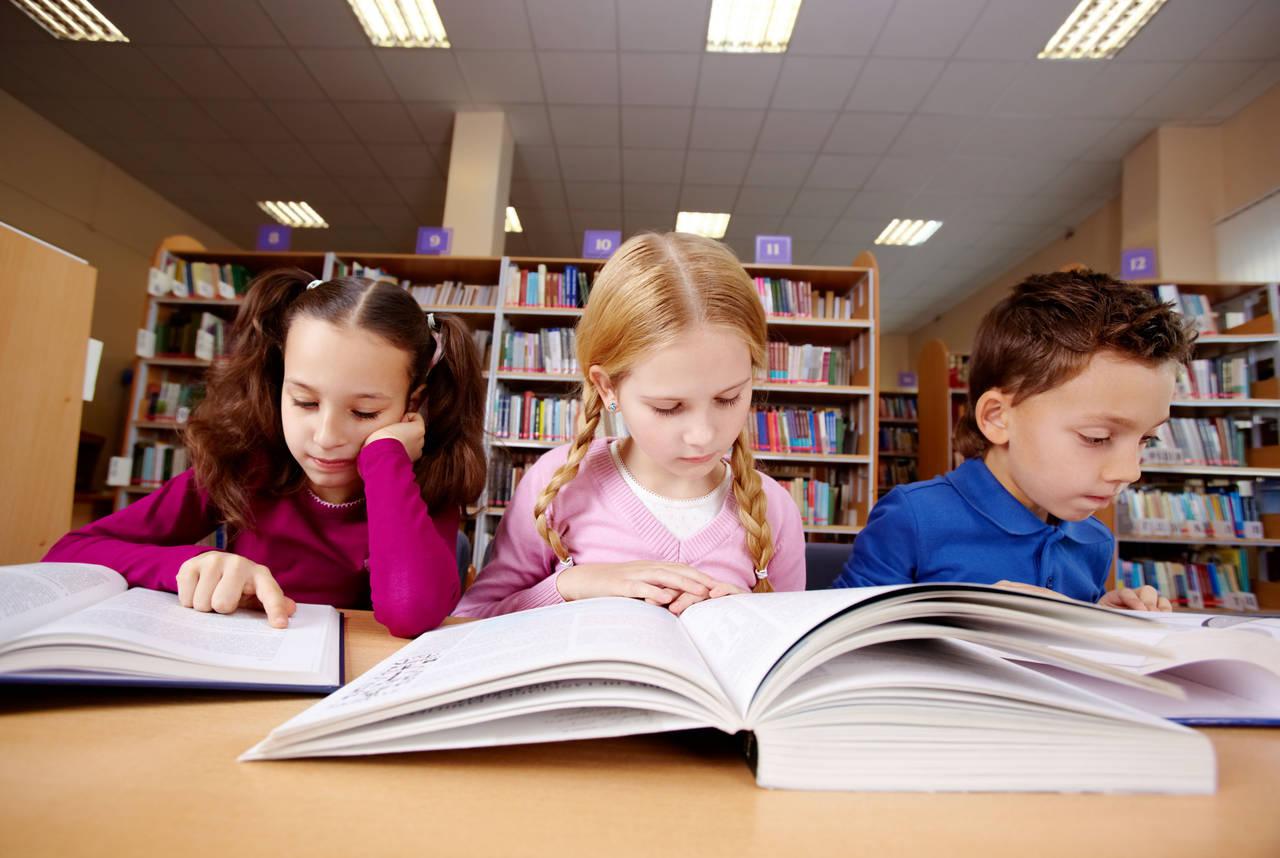 Школьники читают