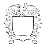 Свинья на месте шлема