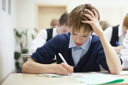 Пишущий школьник