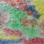 Абстракция солью и акварелью