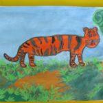 Амурский тигр в тайге