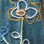Цветок из нитей