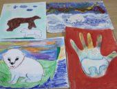 детский рисунок белого медведя