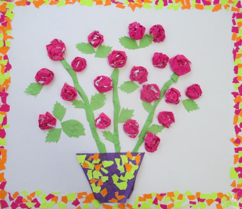 Детский рисунок комнатного растения