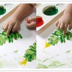 Ёлочку рисуют пальчиками