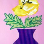 Изображение жёлтого цветка в вазе
