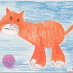 Кошка с клубочком
