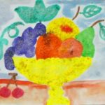 Натюрморт с фруктами солью