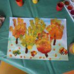 Осенний лес ладошками