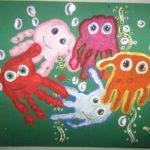 Осьминоги ладошками