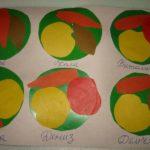 Овощи и фрукты на тарелке
