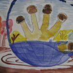 4. «Опята в лукошке»