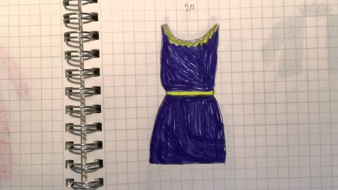 рисунки одежды
