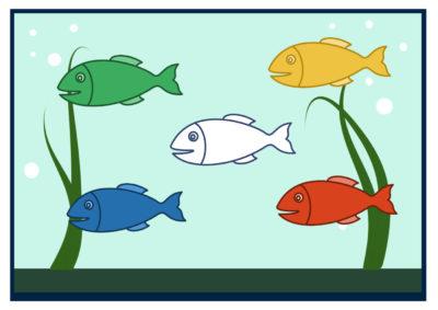 рыбки в аквариуме аппликация