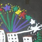 Салют над городом в честь праздника Победы