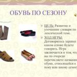 Сезонная обувь