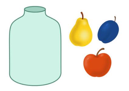 Картинка яблоко для детей шаблоны 7