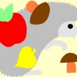 Шаблоны ежика, яблока, грибов и листочка