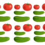 Шаблоны огурцов и помидоров