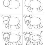 Схема поэтапного рисования коровы