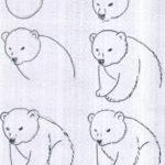 Схема поэтапного рисования медведя (в позе сидя)
