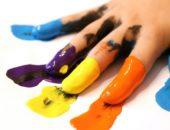 пальцы в краске
