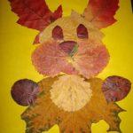 Аппликация из сухих листье