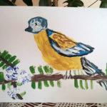 Детский рисунок птицы