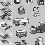 Домик, машинка, тумбочка, стол, мебель, автобус