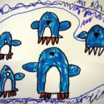 Изображение пингвинов на льдине