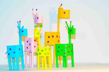 Конструирование животных из бумаги