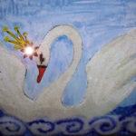 Изображение сказочного лебедя