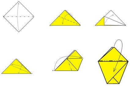 Схема оригами кораблик детей фото 713
