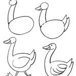 Схема рисования гуся