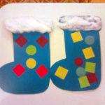 Аппликация по теме «Зимняя обувь»