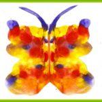 Бабочка с синими усиками