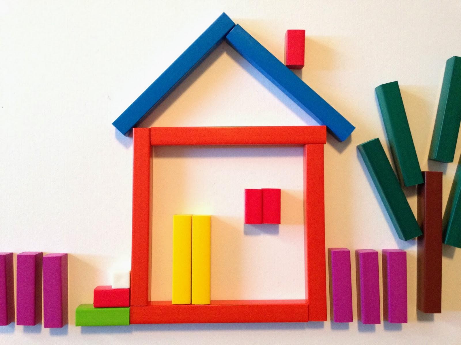 Картинка домика из палочек кюизенера для детей