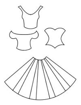 Платья из бумаги своими руками на открытку, днем