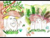 рисунок грибы ягоды