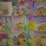 Выставка детских рисунков карандашом:грибы и ягоды