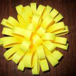 цветок из бумажных полосок