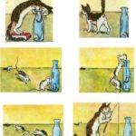 Кот и мышонок — история в картинках
