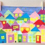 Аппликация Дома на улицах города