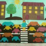 Аппликация Машины на улицах города